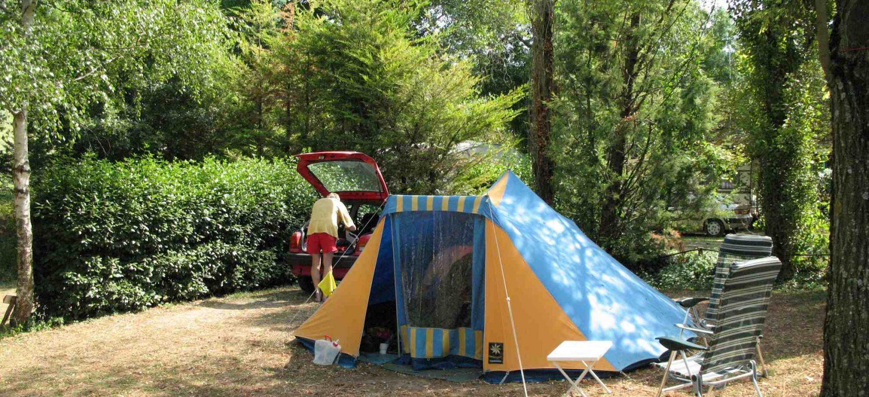 Camping La Poche : Camping en tente