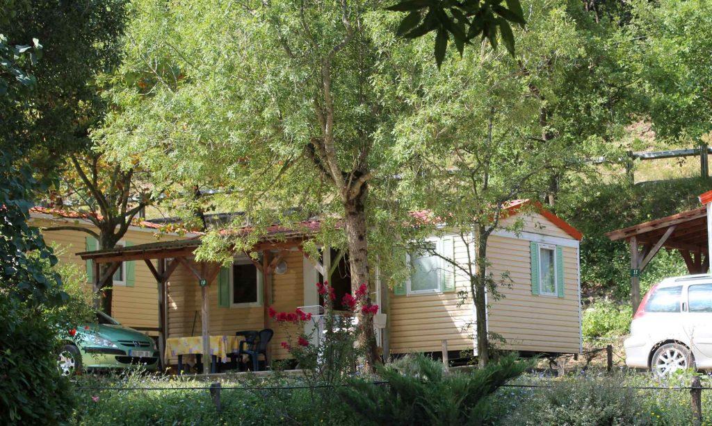 Mobil-home au camping Montélimar Drôme