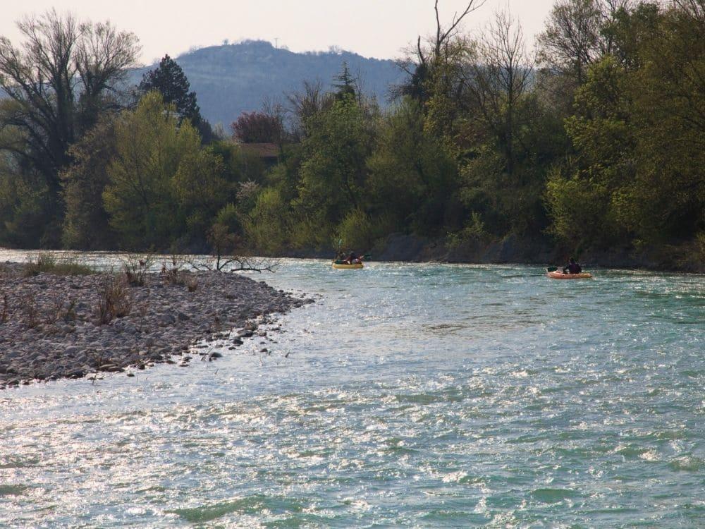 Canoe kayak sur la riviere Camping Drome